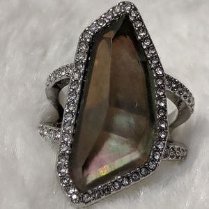 C + I Into the woods statement ring size 8